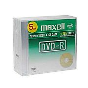 Image for Maxell DVD-R 5-pack 4,7 GB 16x Data/Video 10mm from Suomalainen.com