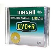 Image for Maxell DVD+R 5-pack 4,7 GB 16x Data/Video 10mm from Suomalainen.com