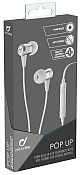 Cellularline nappikuuloke Pop Up White Stereo In-Ear With Remote
