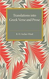 Image for Translations Into Greek Verse and Prose from Suomalainen.com