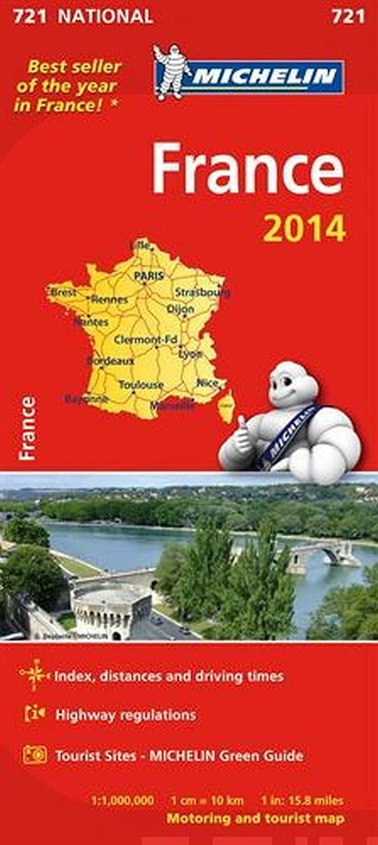 Image for France 2014 National Map 721 from Suomalainen.com
