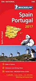Image for Spain & Portugal 2017 National Map 734 from Suomalainen.com