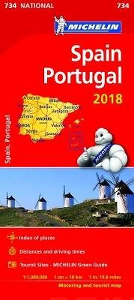 Image for Spain & Portugal 2018 National Map 734 from Suomalainen.com